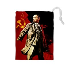 Lenin  Drawstring Pouches (large)