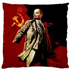 Lenin  Large Flano Cushion Case (two Sides)