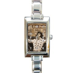 Vintage Elvis Presley Rectangle Italian Charm Watch