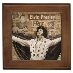 Vintage Elvis Presley Framed Tiles