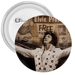 Vintage Elvis Presley 3  Buttons