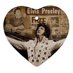 Vintage Elvis Presley Ornament (heart)
