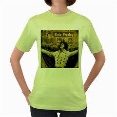 Vintage Elvis Presley Women s Green T Shirt