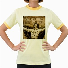 Vintage Elvis Presley Women s Fitted Ringer T Shirts
