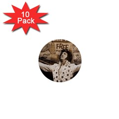 Vintage Elvis Presley 1  Mini Buttons (10 Pack)