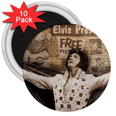 Vintage Elvis Presley 3  Magnets (10 Pack)