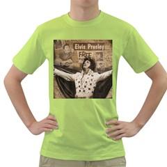 Vintage Elvis Presley Green T Shirt