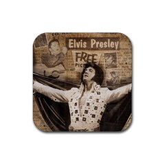 Vintage Elvis Presley Rubber Square Coaster (4 Pack)