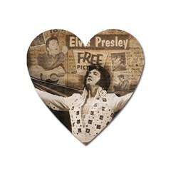 Vintage Elvis Presley Heart Magnet