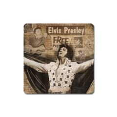 Vintage Elvis Presley Square Magnet