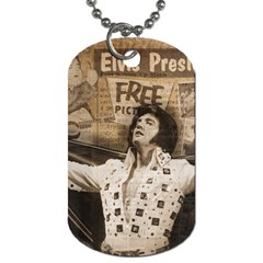 Vintage Elvis Presley Dog Tag (one Side)