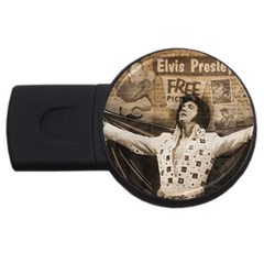 Vintage Elvis Presley Usb Flash Drive Round (2 Gb)