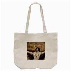 Vintage Elvis Presley Tote Bag (cream)
