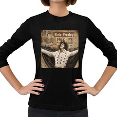 Vintage Elvis Presley Women s Long Sleeve Dark T Shirts