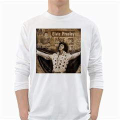 Vintage Elvis Presley White Long Sleeve T Shirts