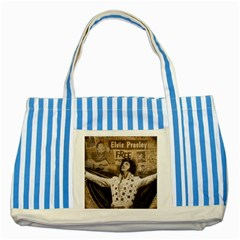 Vintage Elvis Presley Striped Blue Tote Bag