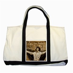 Vintage Elvis Presley Two Tone Tote Bag
