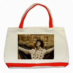 Vintage Elvis Presley Classic Tote Bag (red)