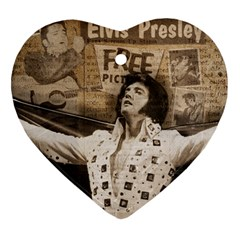 Vintage Elvis Presley Heart Ornament (two Sides)