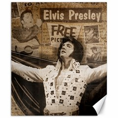 Vintage Elvis Presley Canvas 8  X 10