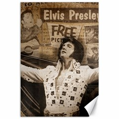 Vintage Elvis Presley Canvas 12  X 18