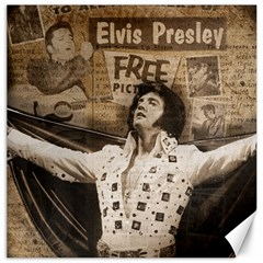 Vintage Elvis Presley Canvas 16  X 16