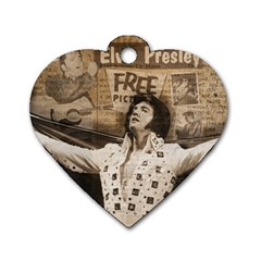 Vintage Elvis Presley Dog Tag Heart (two Sides)