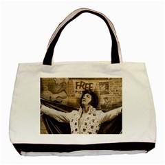 Vintage Elvis Presley Basic Tote Bag (two Sides)