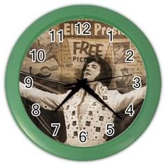 Vintage Elvis Presley Color Wall Clocks