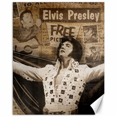 Vintage Elvis Presley Canvas 11  X 14