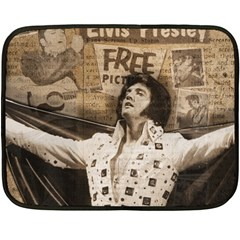 Vintage Elvis Presley Double Sided Fleece Blanket (mini)