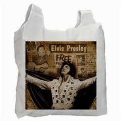 Vintage Elvis Presley Recycle Bag (one Side)