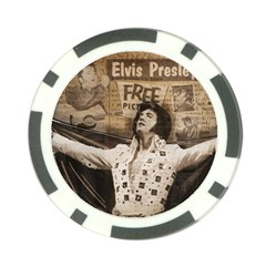 Vintage Elvis Presley Poker Chip Card Guard (10 Pack)