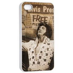 Vintage Elvis Presley Apple Iphone 4/4s Seamless Case (white)
