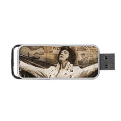 Vintage Elvis Presley Portable Usb Flash (two Sides)