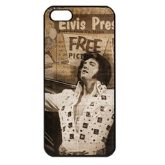 Vintage Elvis Presley Apple Iphone 5 Seamless Case (black)