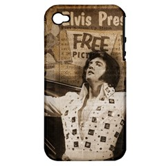 Vintage Elvis Presley Apple Iphone 4/4s Hardshell Case (pc+silicone)