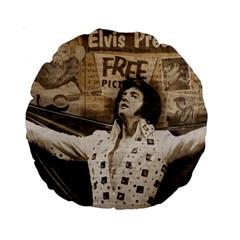 Vintage Elvis Presley Standard 15  Premium Round Cushions