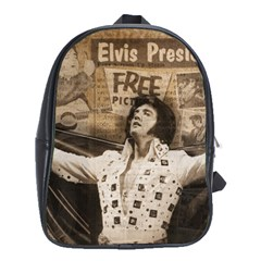 Vintage Elvis Presley School Bag (xl)