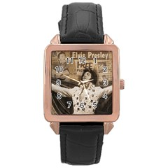 Vintage Elvis Presley Rose Gold Leather Watch