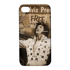 Vintage Elvis Presley Apple Iphone 4/4s Hardshell Case With Stand