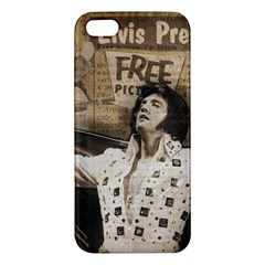 Vintage Elvis Presley Apple Iphone 5 Premium Hardshell Case
