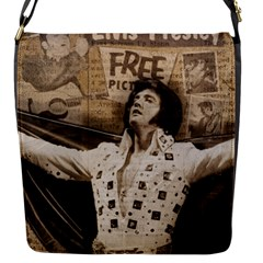 Vintage Elvis Presley Flap Messenger Bag (s)