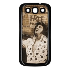 Vintage Elvis Presley Samsung Galaxy S3 Back Case (black)