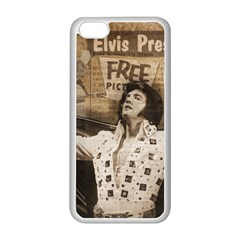 Vintage Elvis Presley Apple Iphone 5c Seamless Case (white)