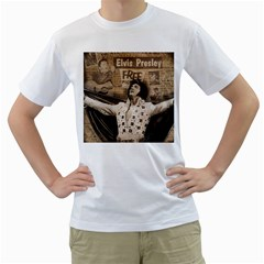 Vintage Elvis Presley Men s T Shirt (white)