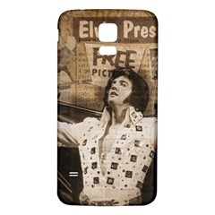Vintage Elvis Presley Samsung Galaxy S5 Back Case (white)