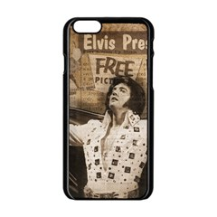 Vintage Elvis Presley Apple Iphone 6/6s Black Enamel Case