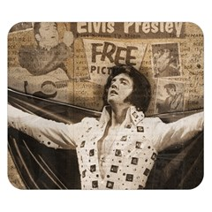 Vintage Elvis Presley Double Sided Flano Blanket (small)