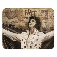 Vintage Elvis Presley Double Sided Flano Blanket (large)